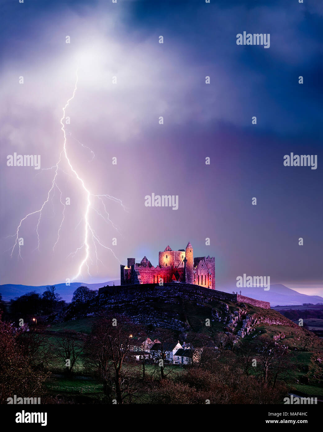 IE - CO. TIPPERARY: Rock of Cashel Stockbild