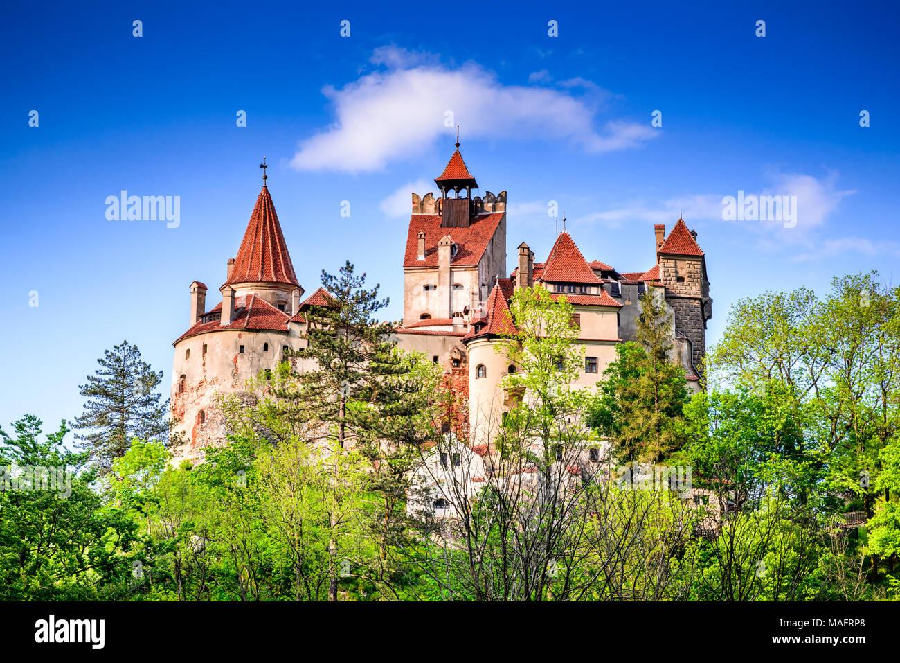 Draculas Schloss, Bran, Rumänien. Atemberaubender Frühling Bild von Vlad the Impaler Zitadelle in Kronstadt, Siebenbürgen, Osteuropa. Stockbild