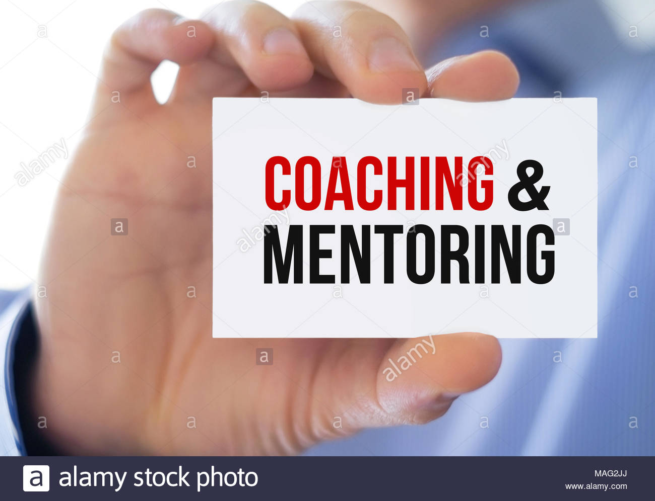 Coaching und Mentoring Stockbild