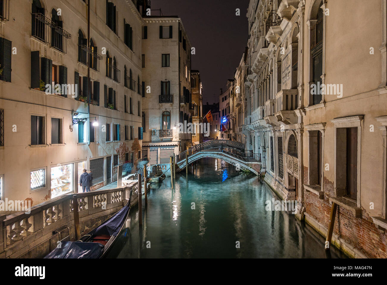 Calle de La Cononoica in Venedig Italien Stockbild