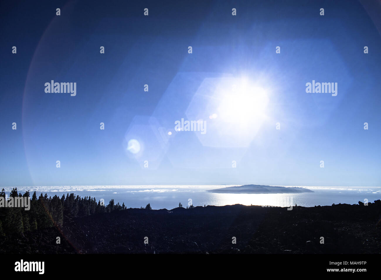 Teneriffa Mondlandschaft Stockbild