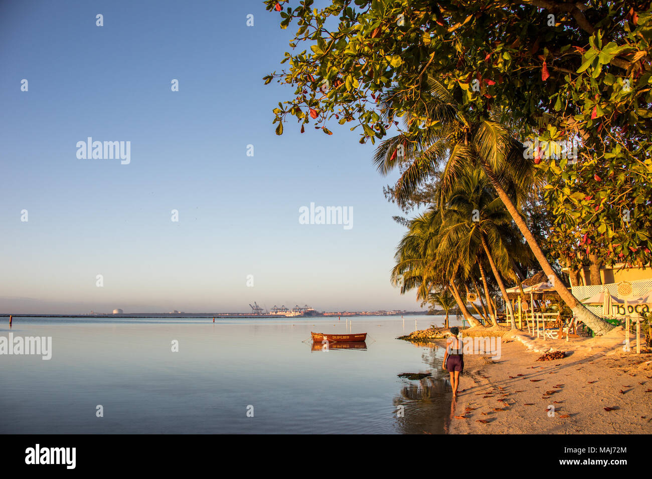 Playa Pública Boca Chica Boca China, Republik Domnican Stockbild