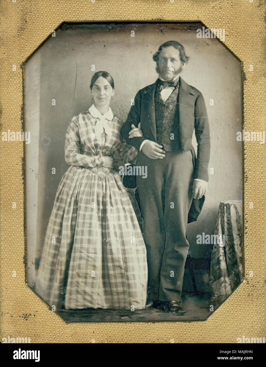 Titel: Herr und Frau Henri Pierre Chouteau. . Ca. 1850. Stockfoto