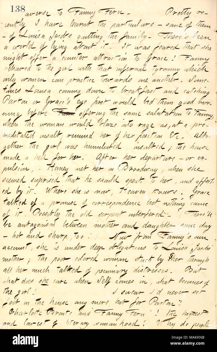 Bezüglich Der Fanny Farn Verhalten Gegenüber Louisa Jacobs