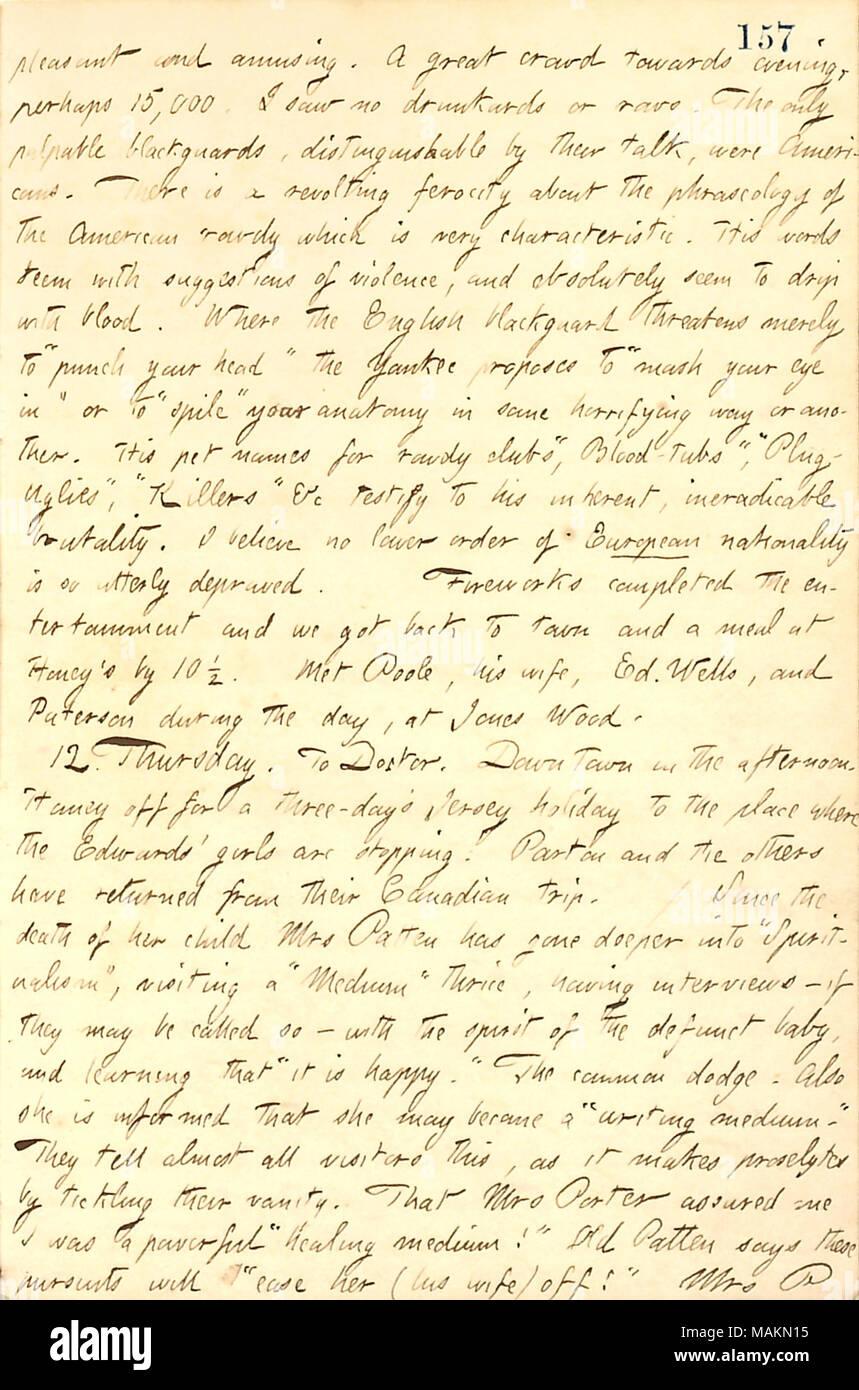 In Bezug auf Frau Patten Interesse an Spiritualität. Transkription ...