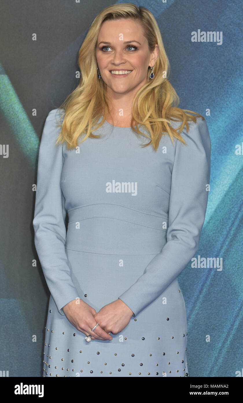 """Reese Witherspoon, """"A Wrinkle In Time"""" - Europäische Premiere, BFI IMAX, Waterloo, London.UK Stockbild"""