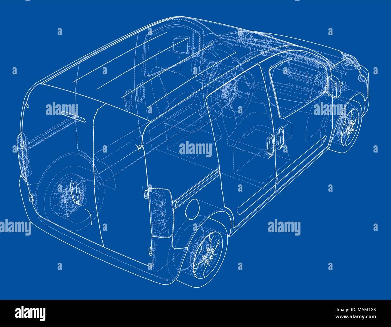 Concept Car Blueprint Stockfoto, Bild: 178708552 - Alamy