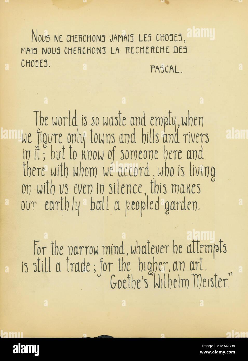 Zitate Von Pascal Und Goethe Titel Die Töpferscheibe Band