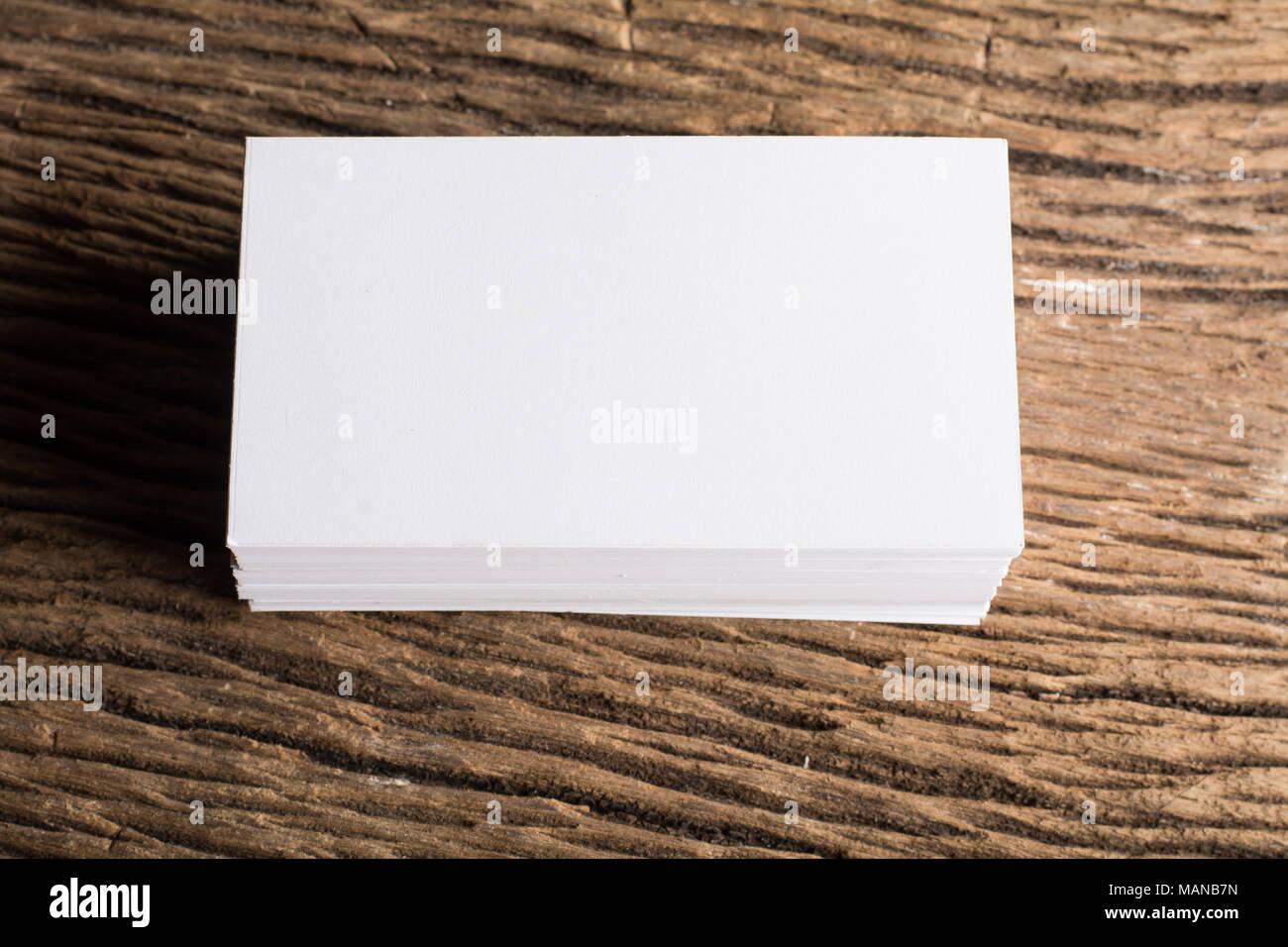 Leere Weiße Visitenkarte Präsentation Der Corporate Identity