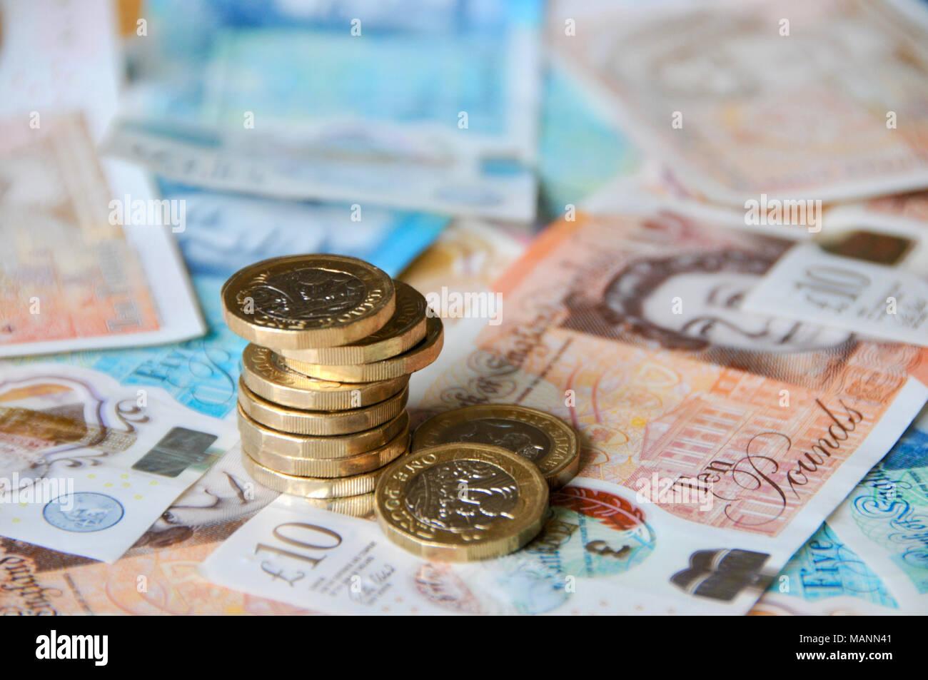 Uk Sterling Währung Neue Banknoten Und Münzen Für 2018 Neue 1