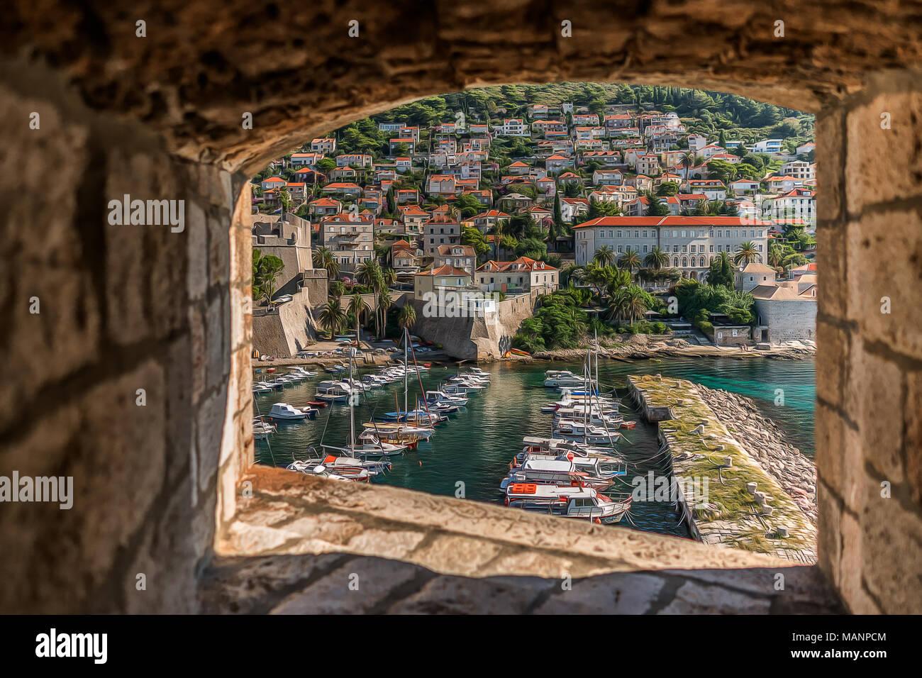 Stadt Dubrovnik Stockbild