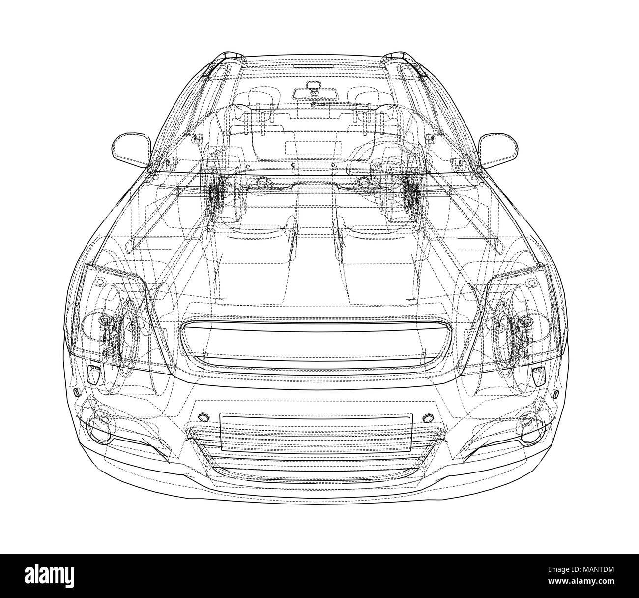 Fein Blaupause Von Autos Bilder - Schaltplan Serie Circuit ...