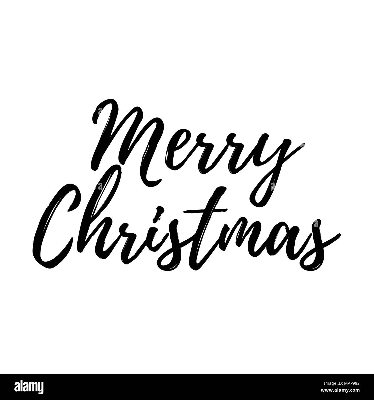 Weihnachtskarte mit Kalligraphie frohe Weihnachten. Vorlage für ...