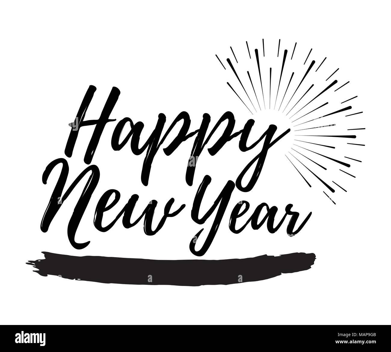 Happy New Year 2018 Vector Vectors Stockfotos & Happy New Year 2018 ...