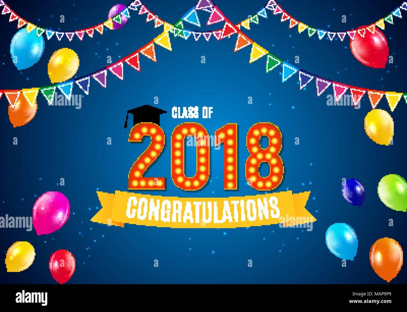 Herzlichen Glückwunsch Zum Abschluss 2018 Klasse Hintergrund