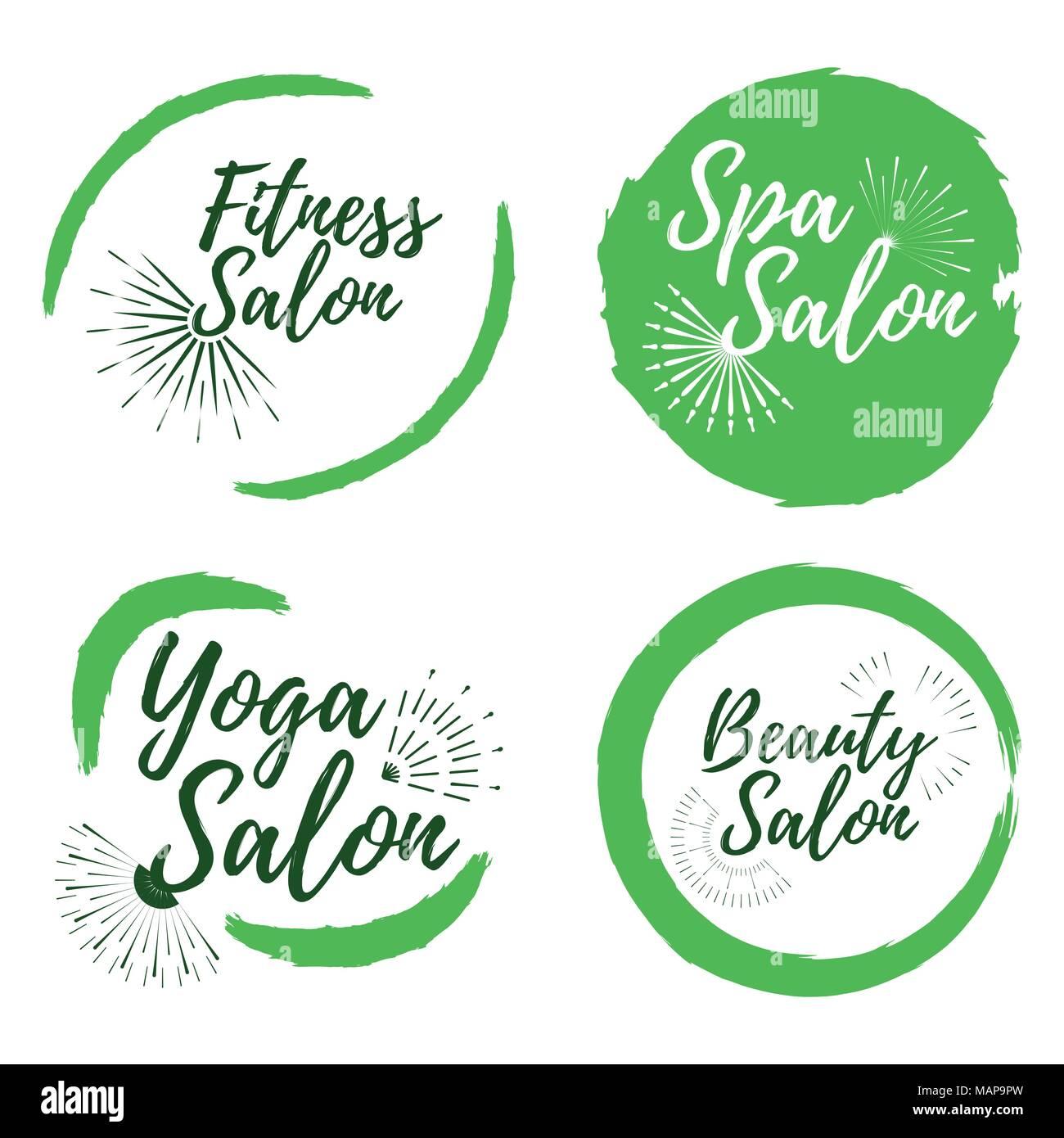 Beauty Salon Vector Logo Design Stockfotos & Beauty Salon Vector ...