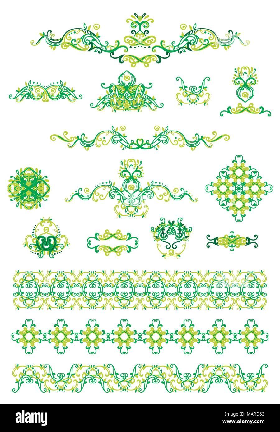 Islamic Vintage Floral Pattern Template Stockfotos & Islamic Vintage ...
