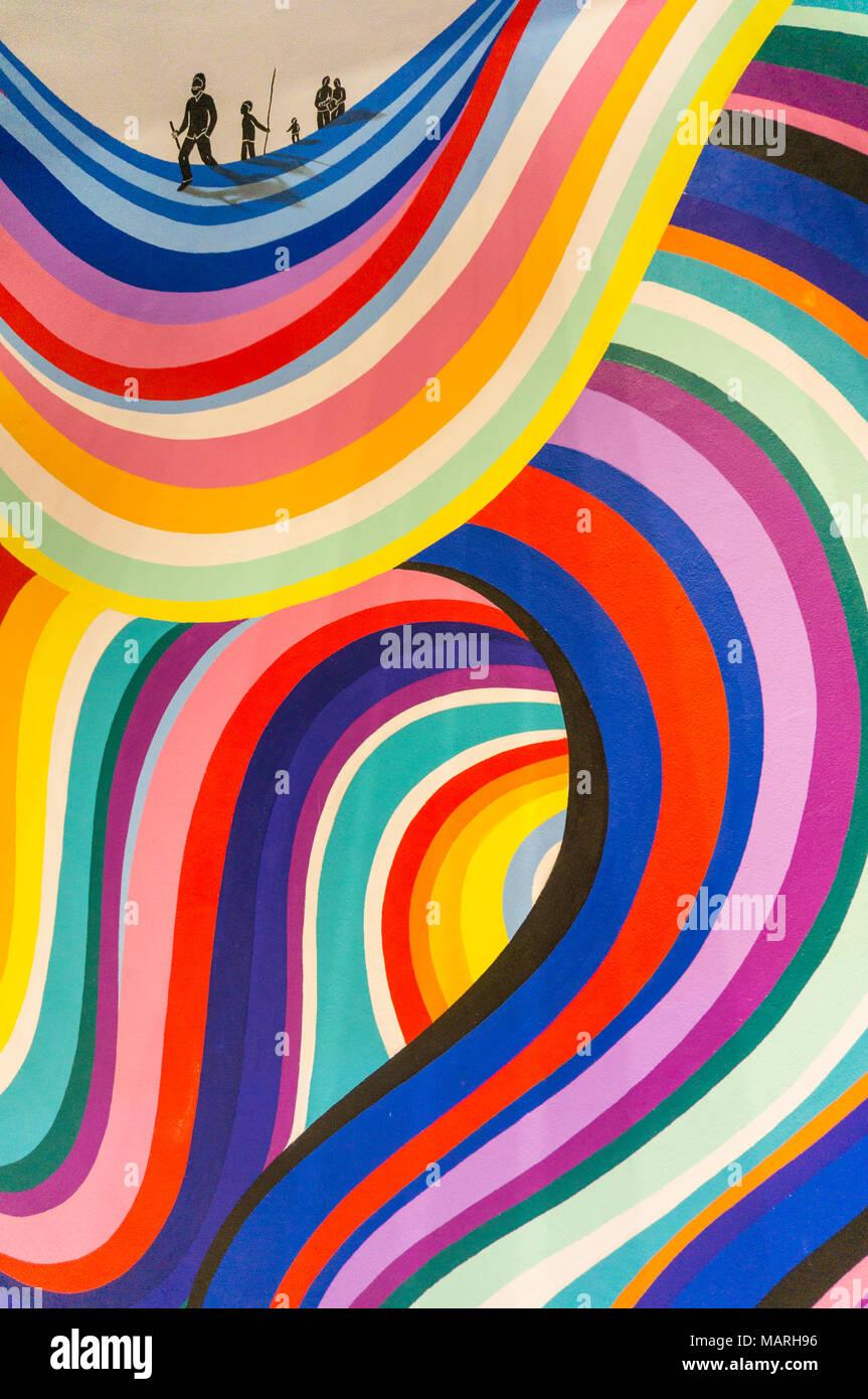 Mehrfarbige Kunstwerke bunte artwork Grafik Grafik Design rainbow Kunst Stockbild