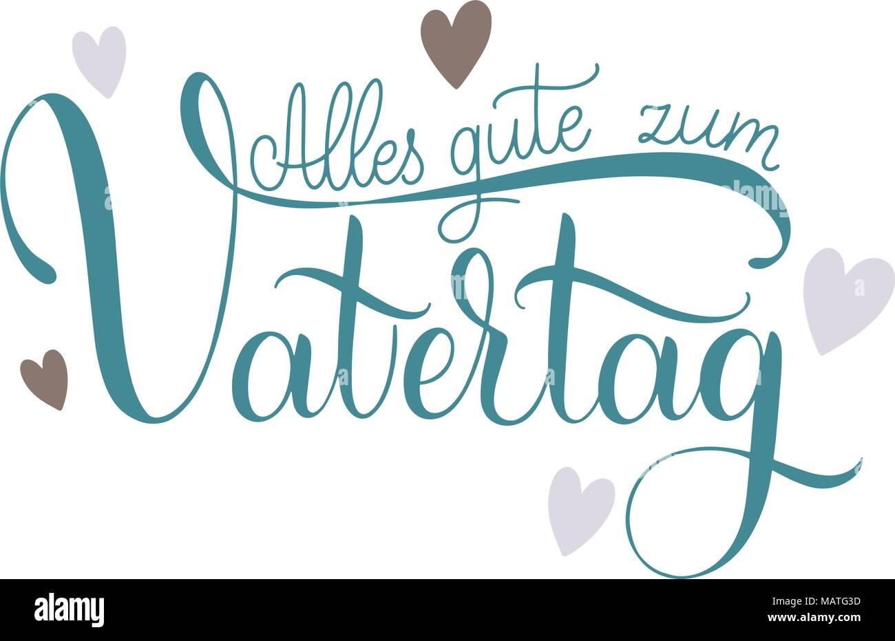 Alles Gute Zum Vatertag Happy Vatertag Schriftzüge Auf Deutsch