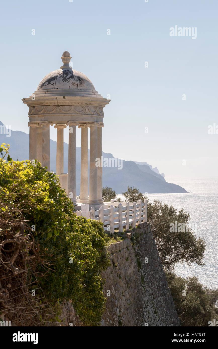 Mallorca, Finca Son Marriog bei Valldemossa, Marmorpavillon Stockbild