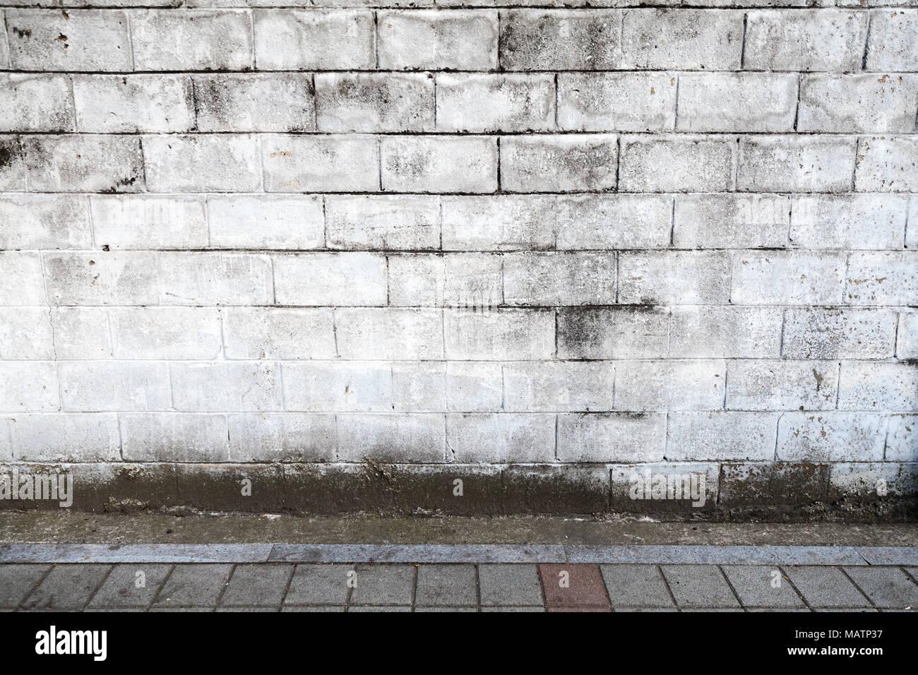 Leeren Stadtischen Innenraum Hintergrund Textur Weissen Stein Wand