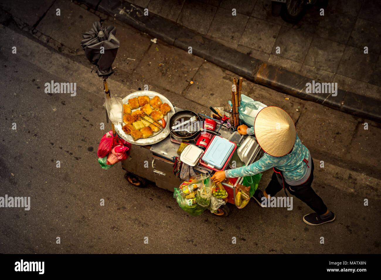 Asien, Vietnam, Hanoi, Fondue, Garküche, Verkehr, Transport, Transportmittel Stockbild