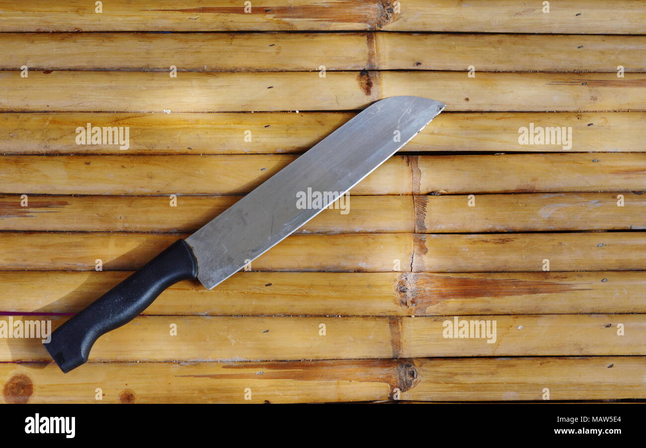 Messer Auf Bambus Stockfoto Bild 178803356 Alamy