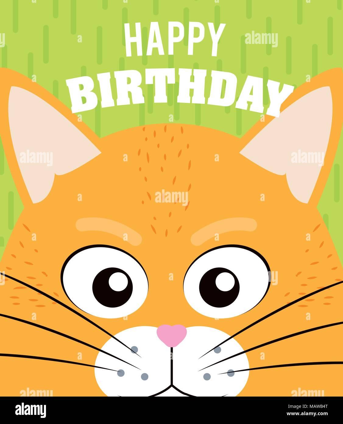 Cat Happy Birthday Card