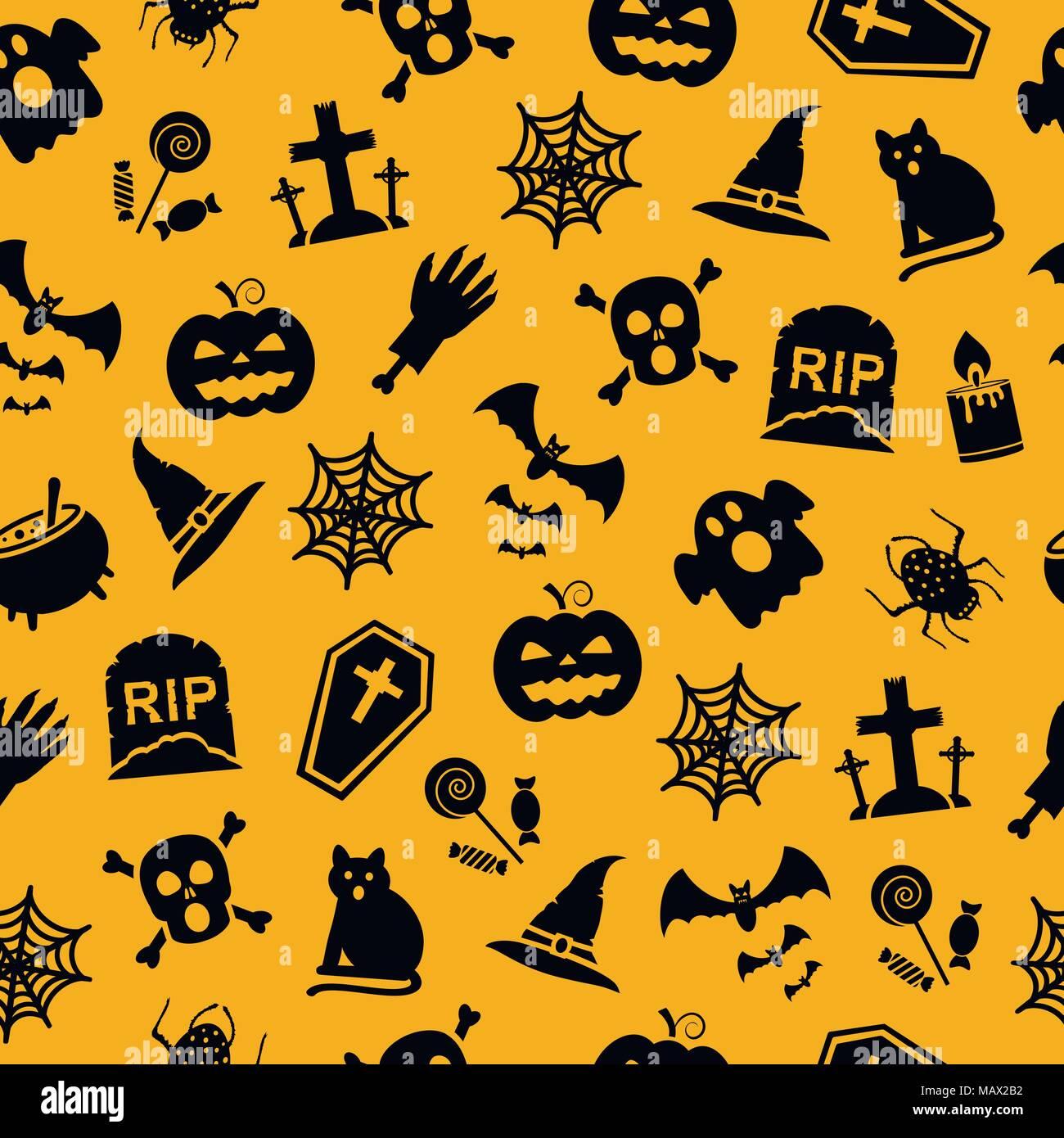 Cartoon Kurbis Mit Kerze Frohe Halloween 2