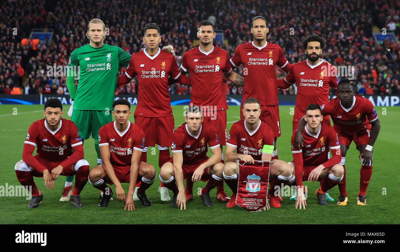 Liverpool Goalkeeper Loris Karius During Stockfotos