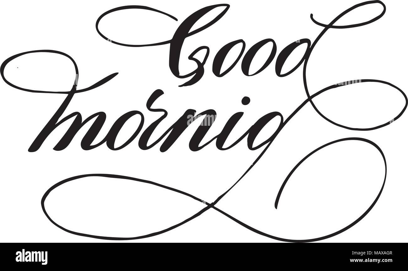 Guten Morgen Hand Schriftzug Inschrift Zu Winter Urlaub Design