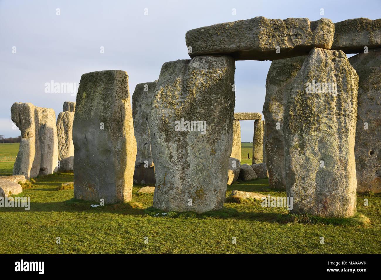 Stonehenge - einer der populärsten europäische Bankenzentrum Attraktionen. Stockbild
