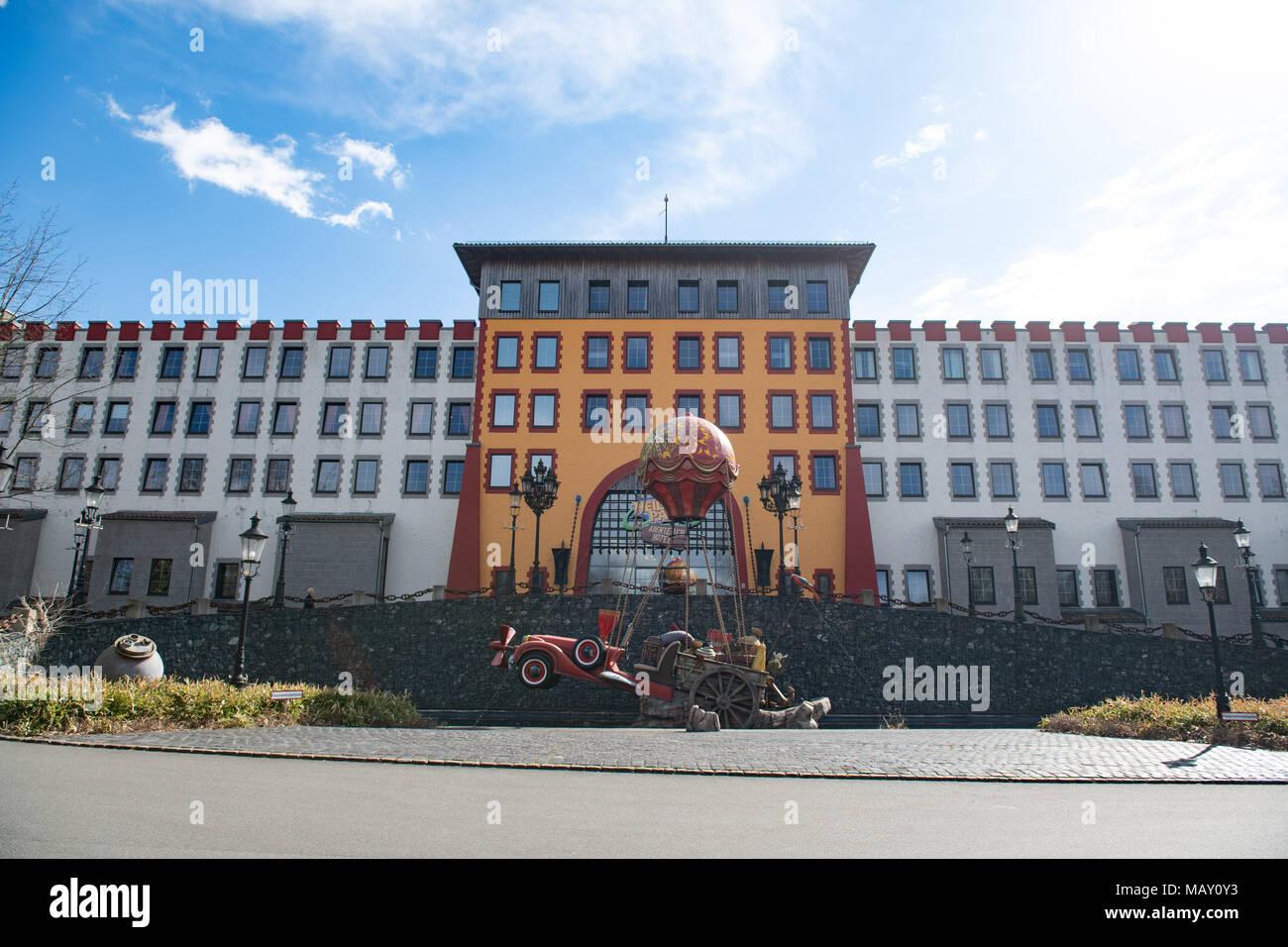 04 April 2018 Deutschland Soltau Der Eingang Zum Adventure Hotel