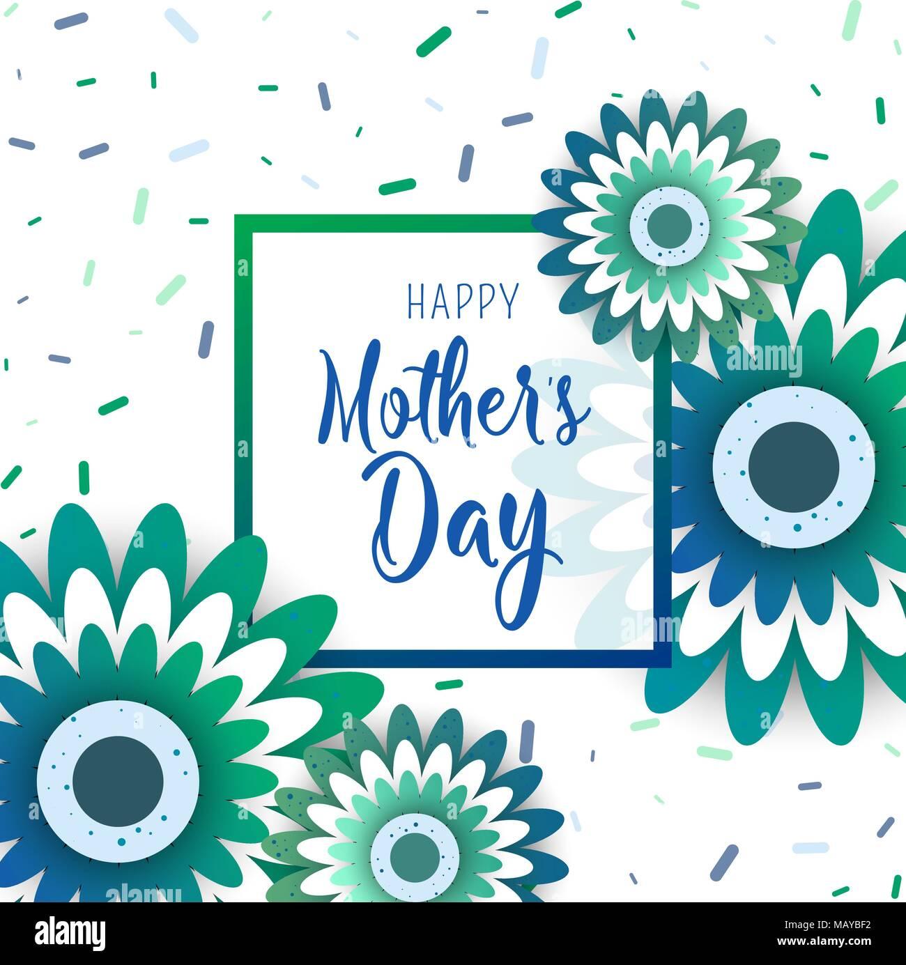 Template design Plakat für die glückliche Mutter Tag mit leuchtenden ...
