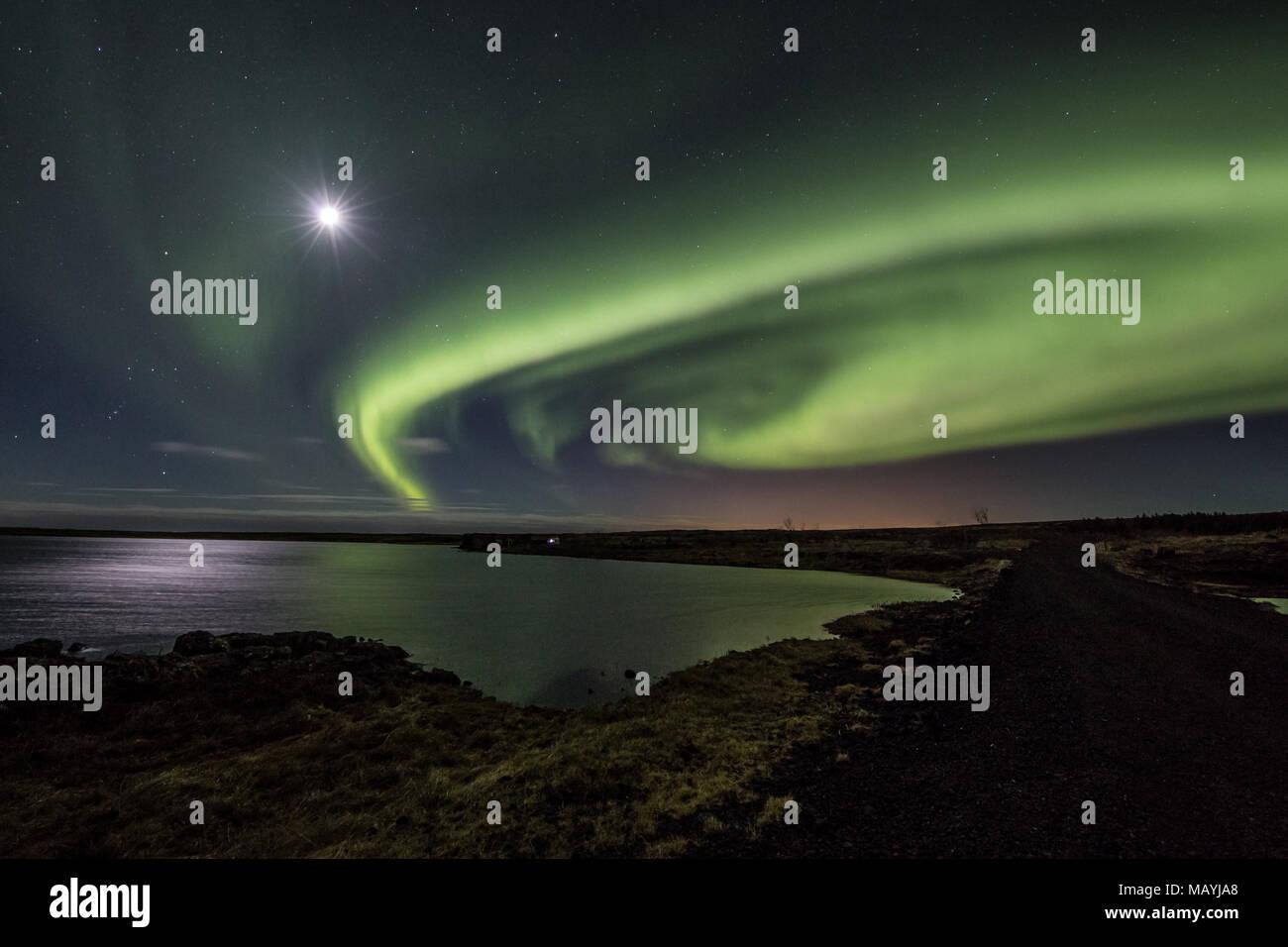 Islanda northern lights Stockfoto