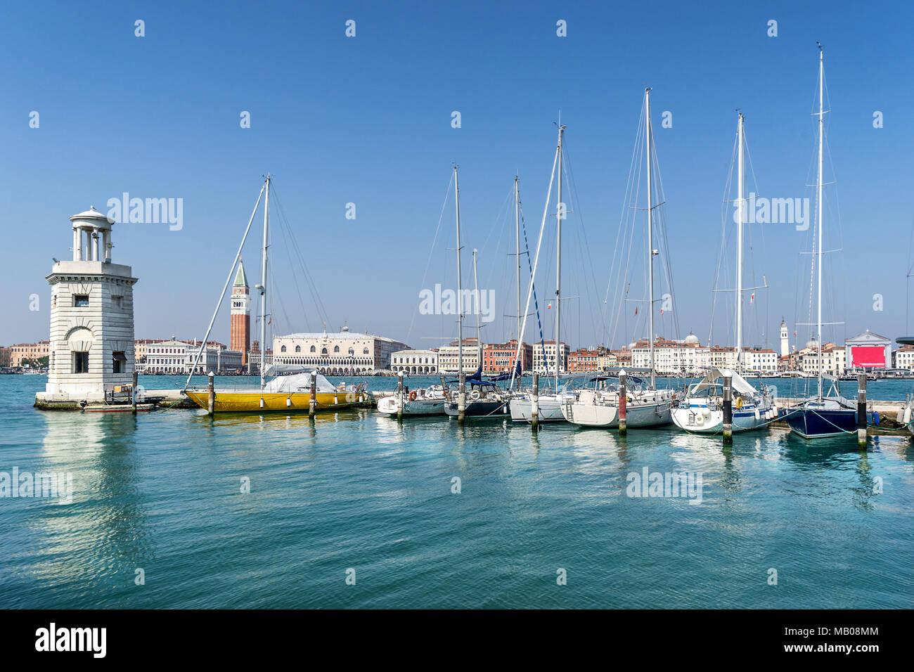 Die marina auf Isola S Giorgio Maggiore in Venedig Stockbild