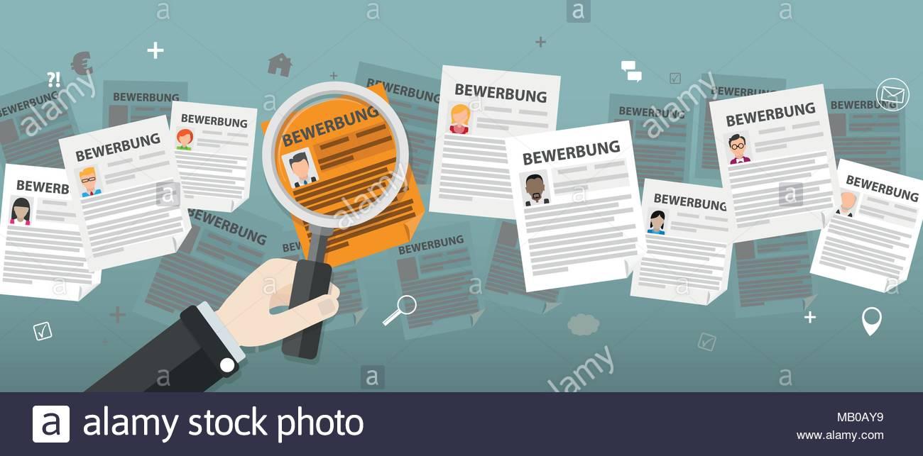 deutsche text bewerbung anwendung bersetzen eps 10 vektor datei - Bewerbung Ubersetzung