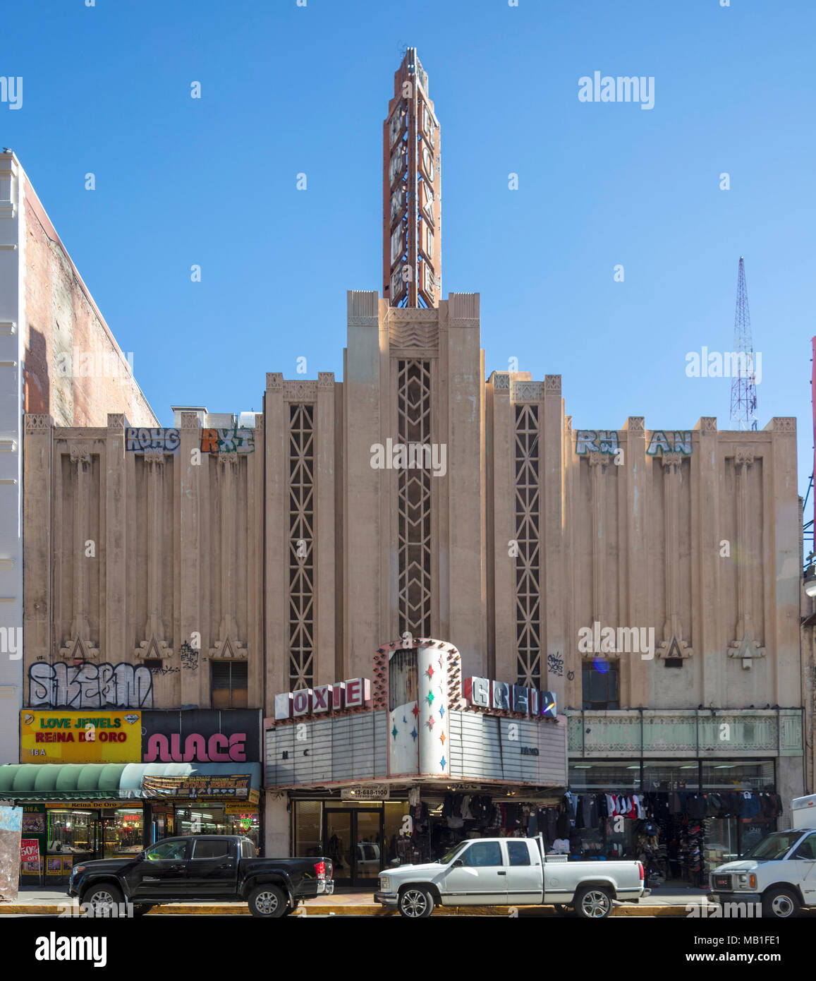 Die roxie Film Theater, Broadway, Downtown Los Angeles, Kalifornien, USA Stockbild