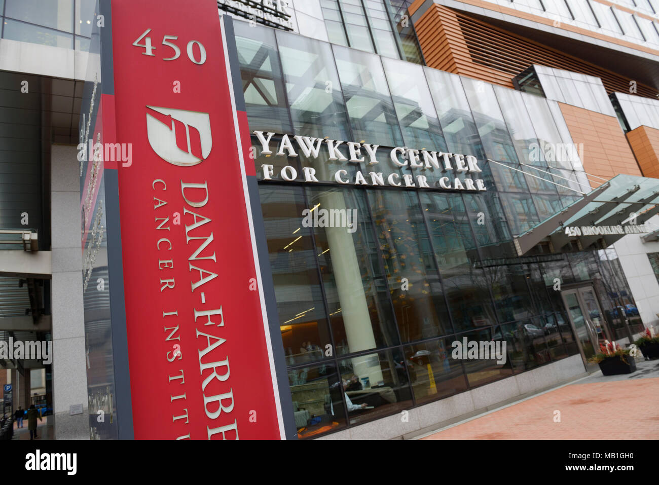 Dana-Farber Cancer Institute, berühmte Cancer research Hospital in Boston, MA Stockbild