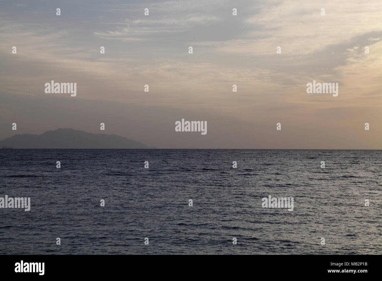 Meer Landschaft, Tiran Island, Ägypten, Afrika Stockbild