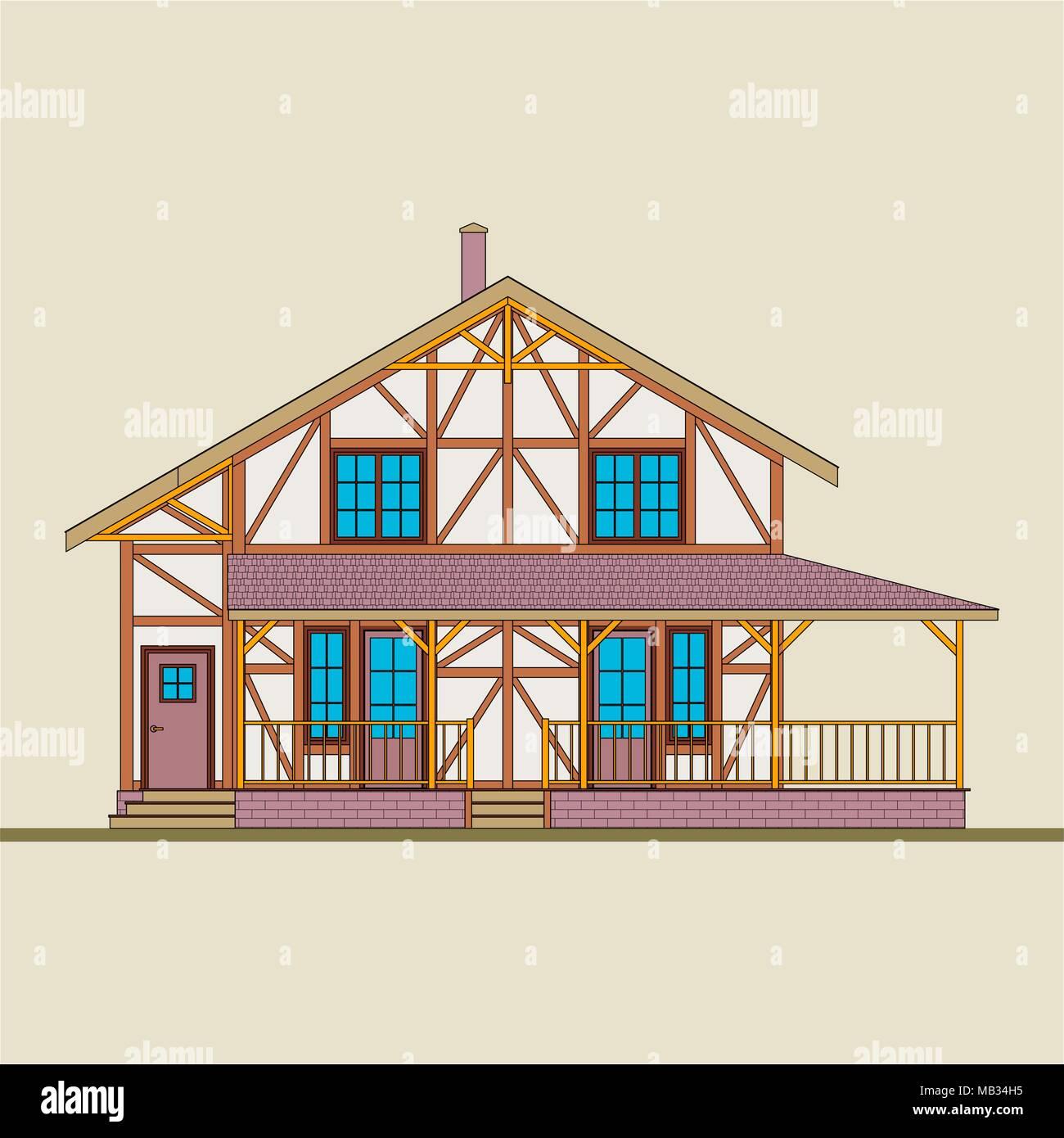 das haus ist aus nat rlichem holz und verputztem backstein gebaut pfosten riegel konstruktion. Black Bedroom Furniture Sets. Home Design Ideas