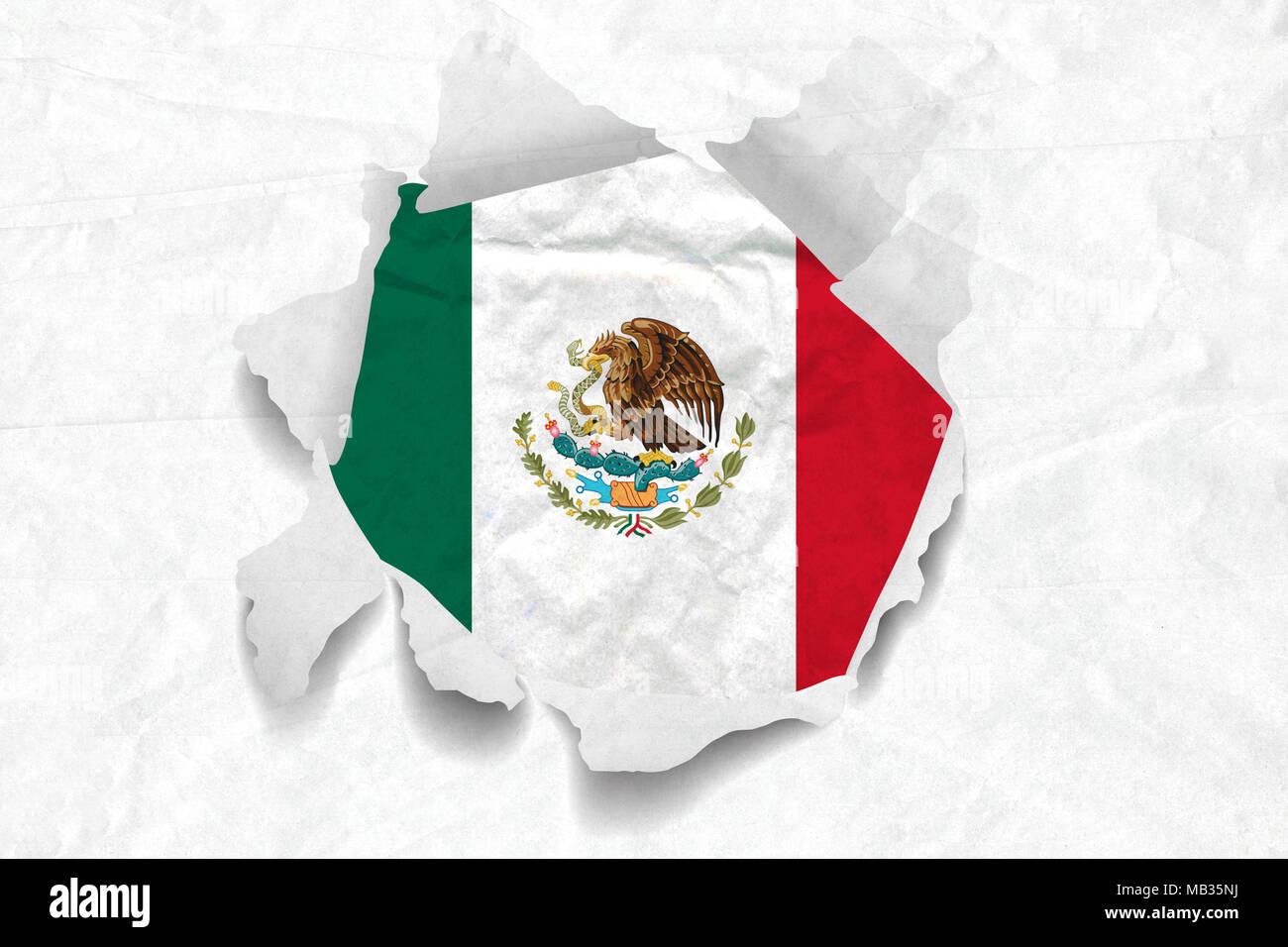 Erfreut Mexikanische Flagge Färbung Seite Fotos - Malvorlagen Von ...