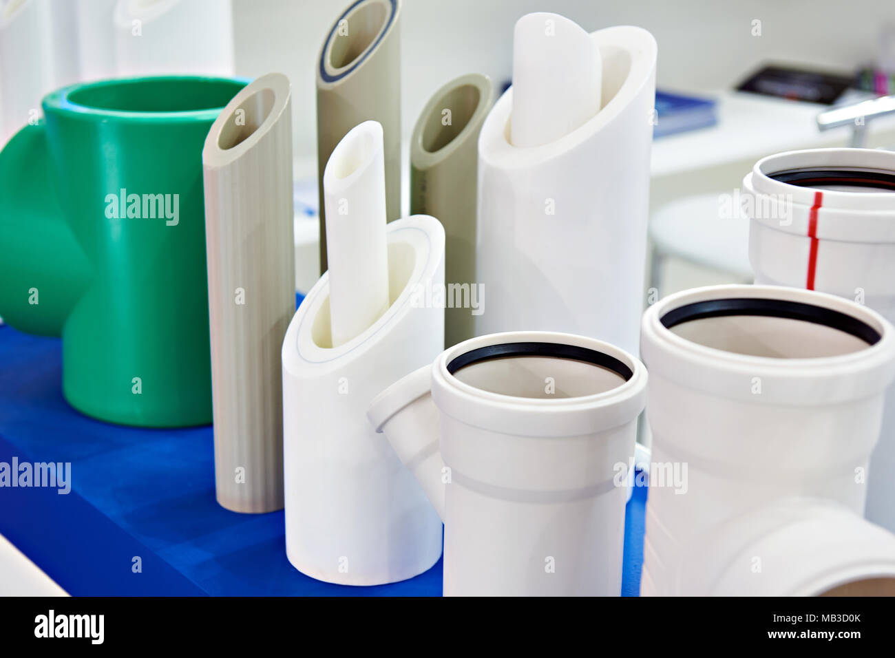 plastic water pipes stockfotos plastic water pipes bilder alamy. Black Bedroom Furniture Sets. Home Design Ideas