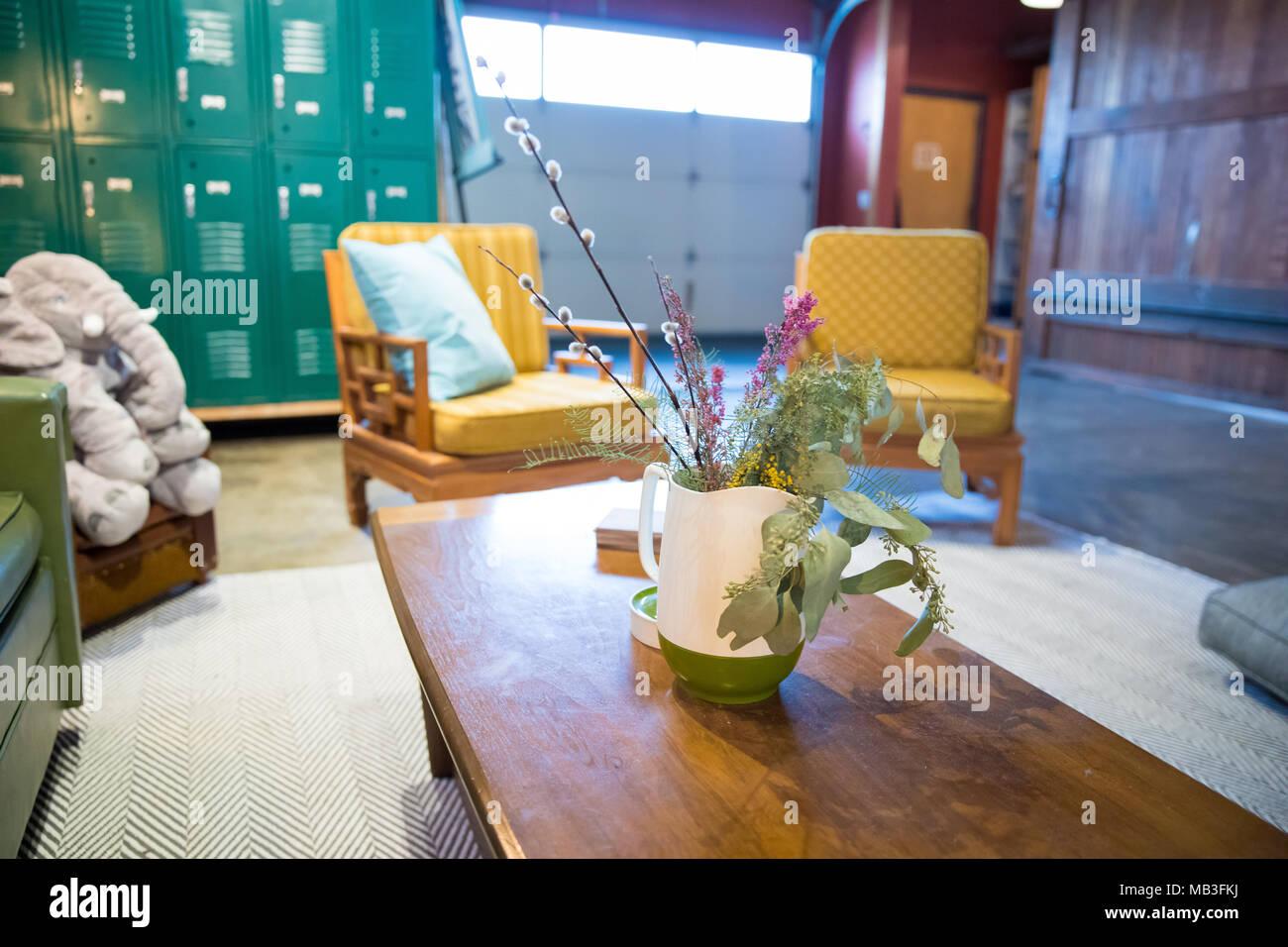 Lounge Sitzecke Beim Yoga Studio Stockfoto Bild 178943062 Alamy