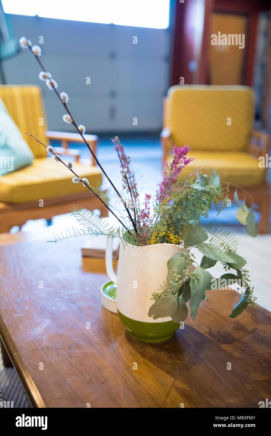 Lounge Sitzecke Beim Yoga Studio Stockfoto Bild 178943099 Alamy