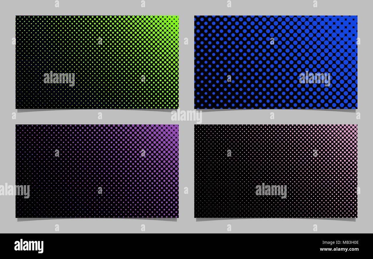 Abstrakte Rasterpunkt Muster Visitenkarte Hintergrund Design