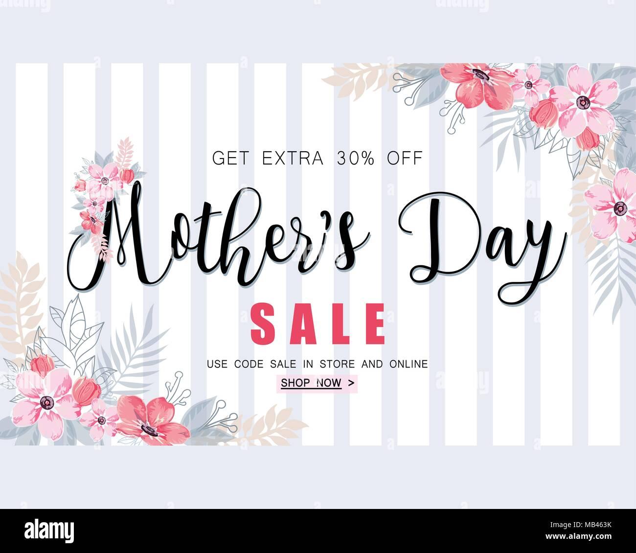 Mothers Day Storewide Sale Template: Muttertag Verkauf Banner Vorlage Für Social Media Werbung