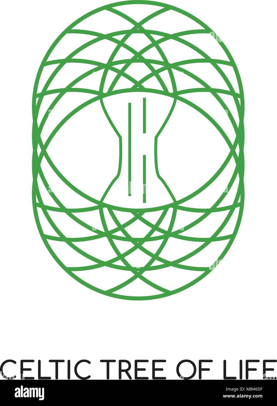 Keltischer Baum Des Lebens Logo Auf Weissem Hintergrund Für Ihre Web