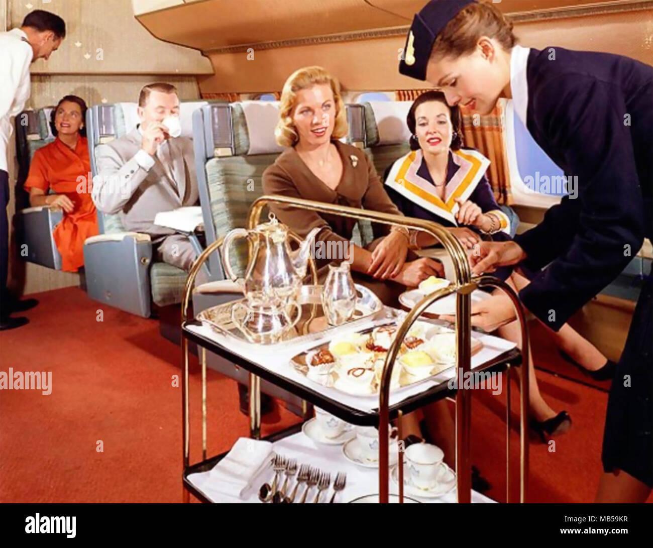 Flugreisen 1950 s Stockbild