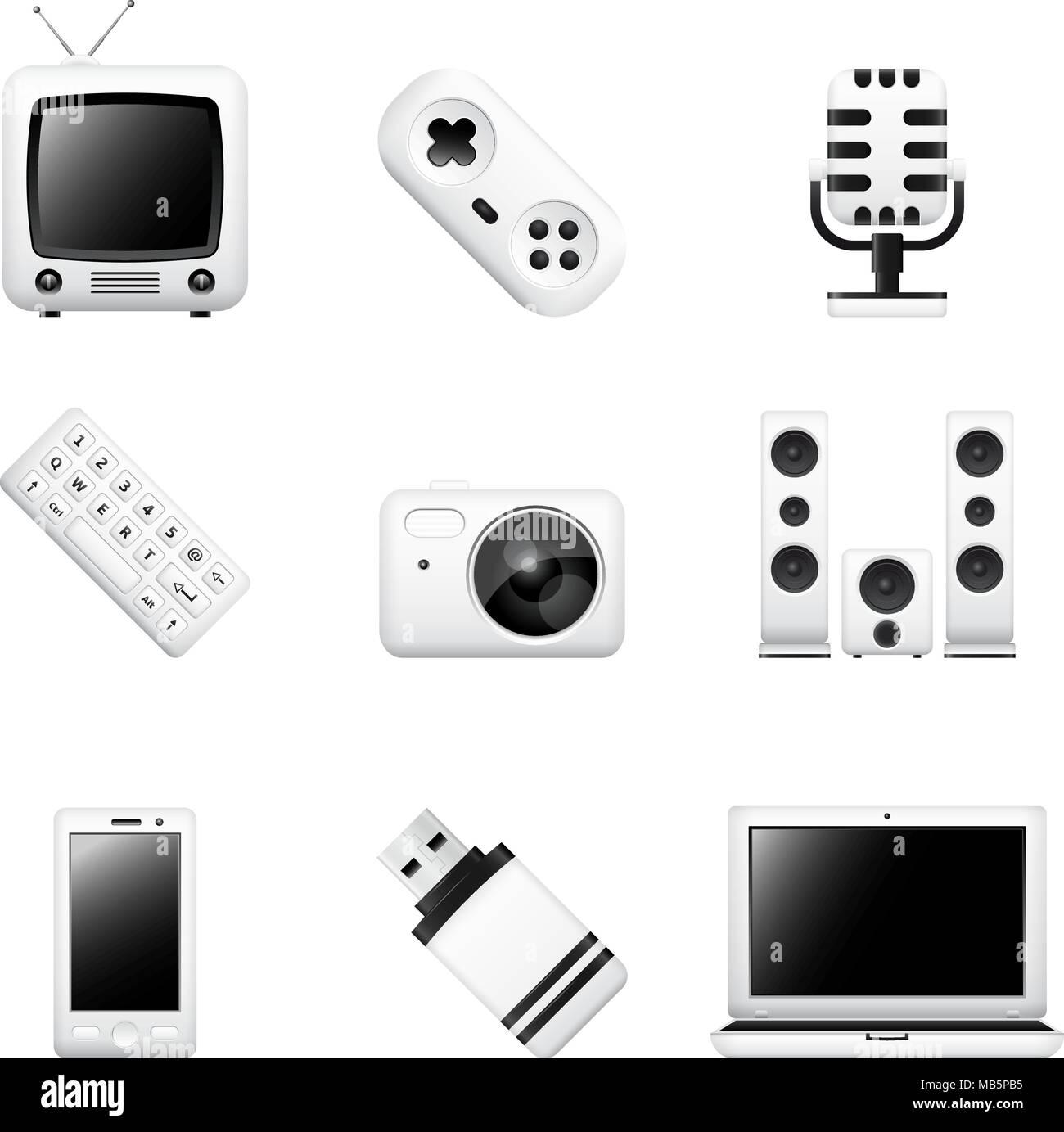 Großzügig Symbole Auf Elektronischen Geräten Ideen - Elektrische ...